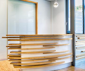 PROJEKT: Büro - Innenarchitektur und handwerkliche Ausführung Empfangs- und Arbeitsbereich - Bilder anschauen