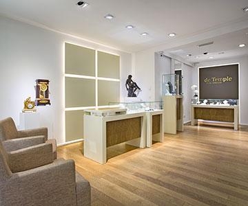 PROJEKT: Shop -Innenarchitektur und Konzeption Ladeneinrichtung Juwelier; Ausführung von Innenausbau, Schreinerarbeiten und Einrichtung - Bilder anschauen